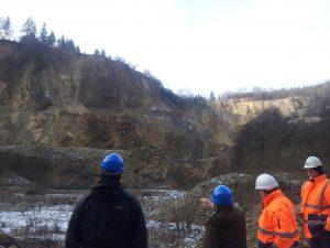 Besichtigung des Steinbruchs