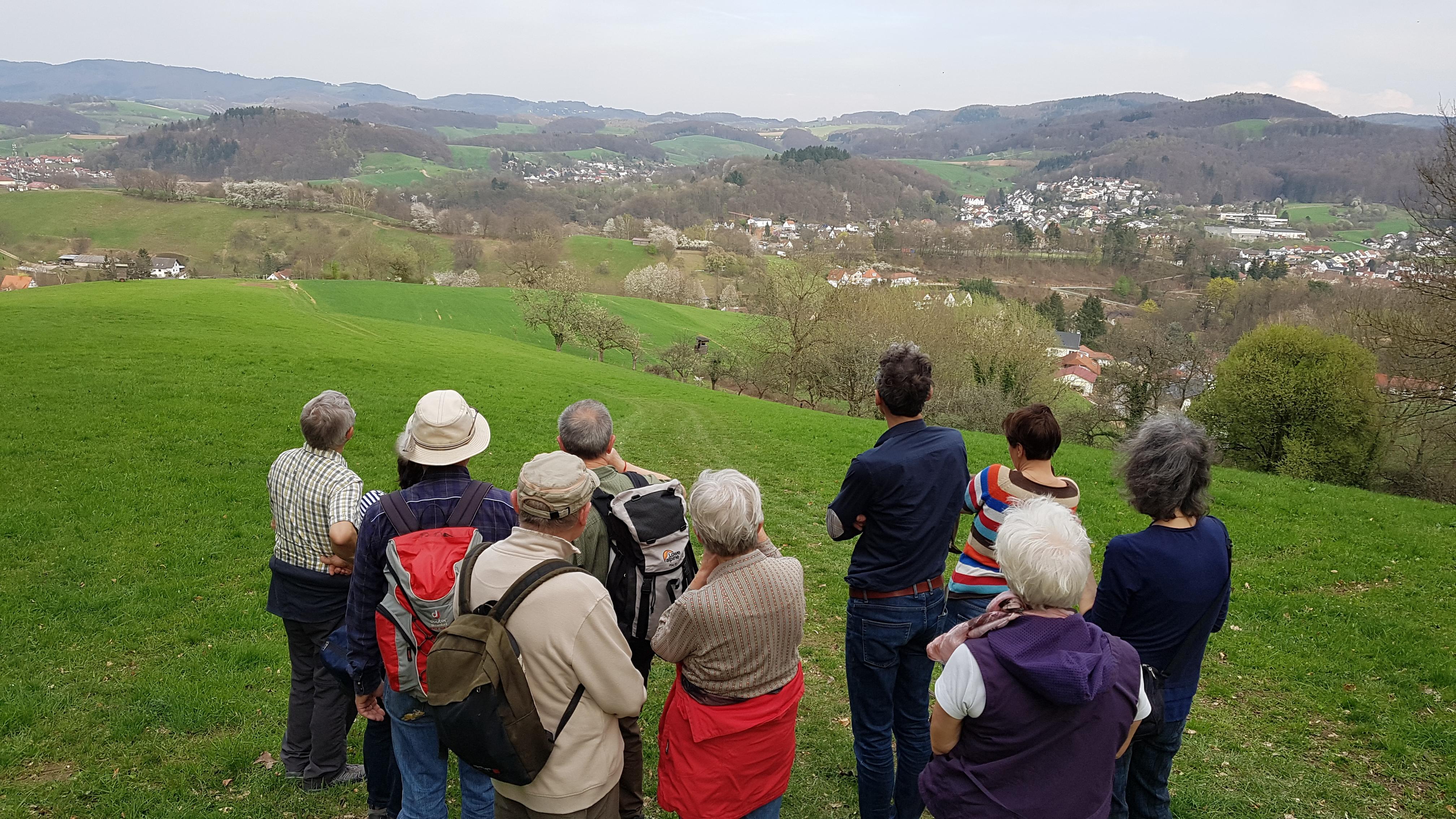 Naturspaziergang - Blick auf Weschnitztal